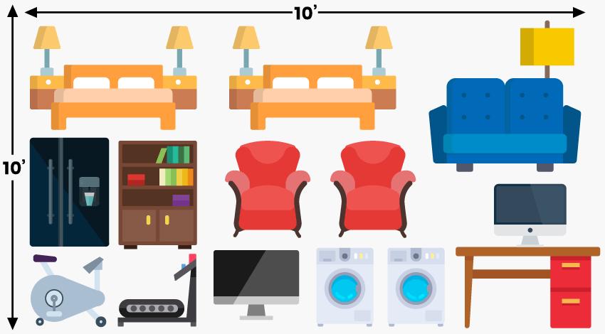 Storage Capacity 10in X 10in